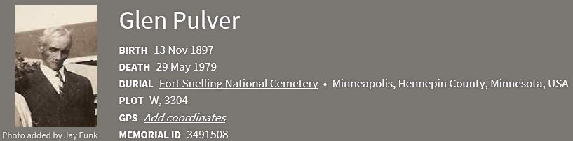 Pulver Family History